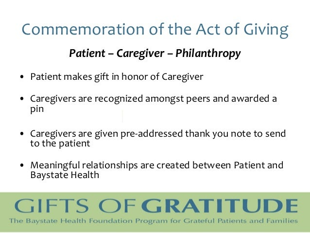 "Inspiring ""Gifts Of Gratitude"" In Healthcare"