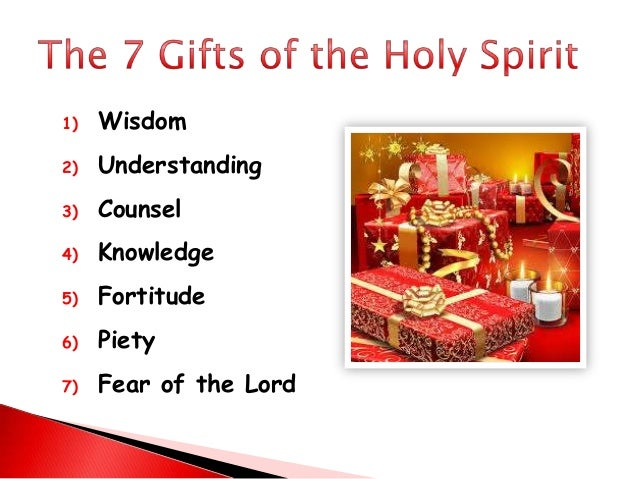 Gifts of the holy spirit & confirmation
