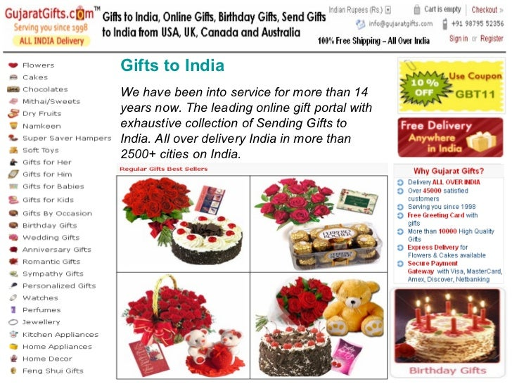 We Have Been Into Service For More Than 14 Years Now The Leading Online Gift