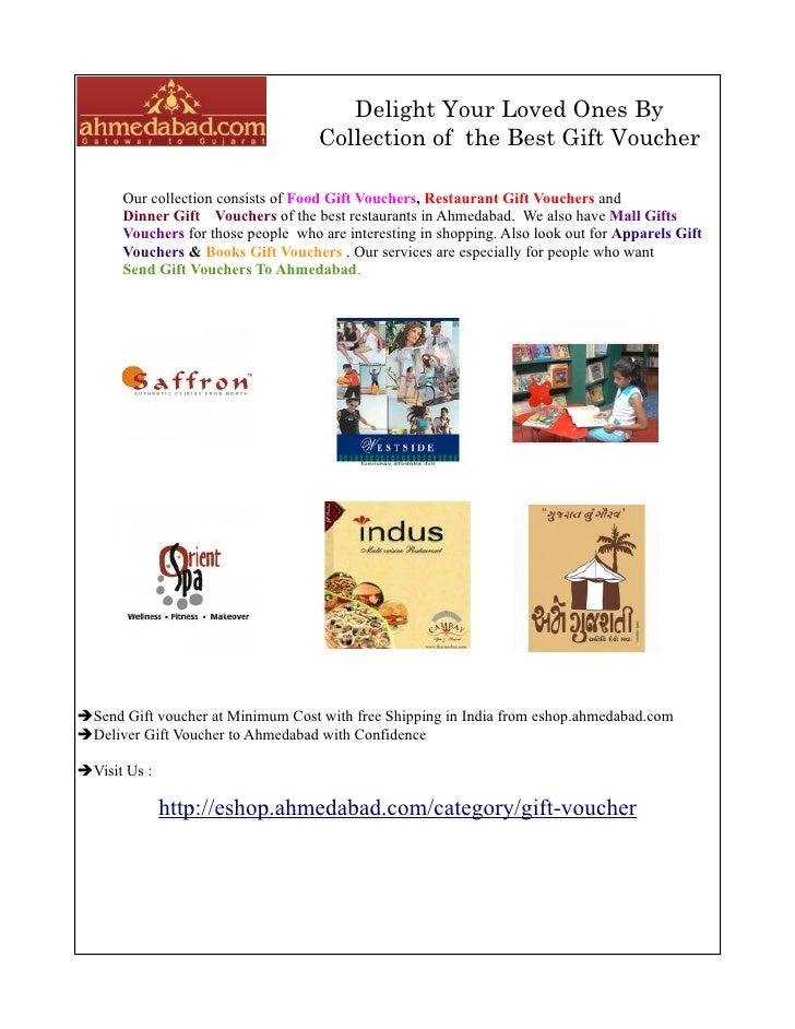 Gift Voucher Online Gift Vouchers Gift Certificate Eshopahmedaba