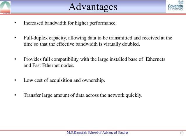 ethernet advantages and disadvantages