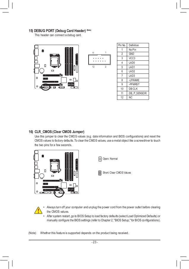 Gigabyte mb manual ga-q77m-d2h_e