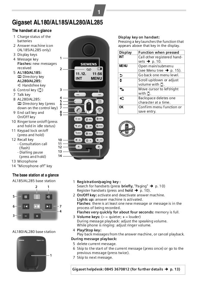 gigaset al280 al285 telephone manual rh slideshare net manual siemens gigaset da100 siemens gigaset sl100 manual
