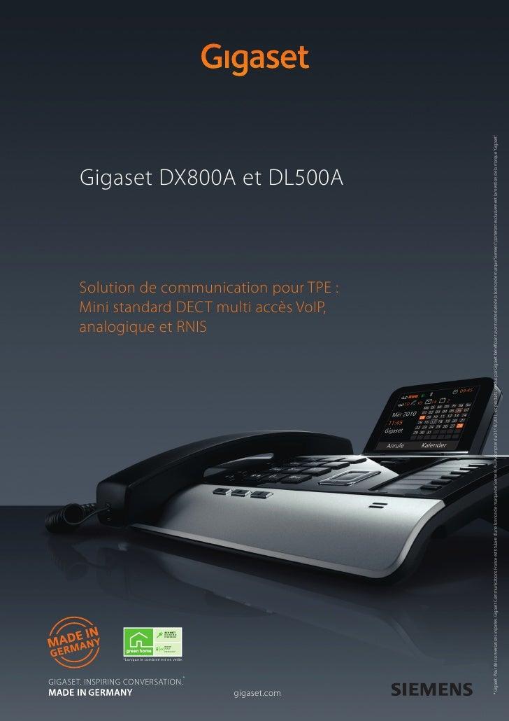 Gigaset Dl500 A Dx800 A Solution Pour Tpe H Def