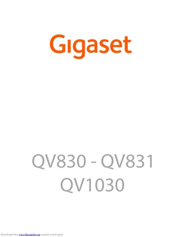 Gigaset QV830 Tablet User Guide