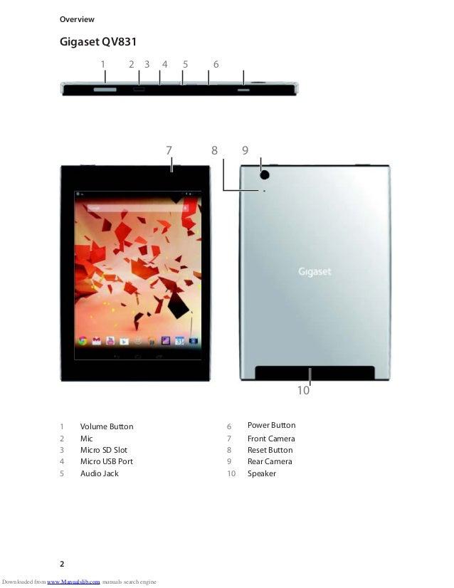 gigaset qv830 tablet user guide. Black Bedroom Furniture Sets. Home Design Ideas