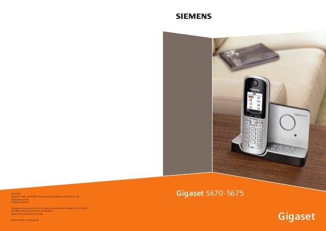 gigaset s670 s675 telephone user guide rh slideshare net Siemens Gigaset One BTTN Siemens Gigaset Office