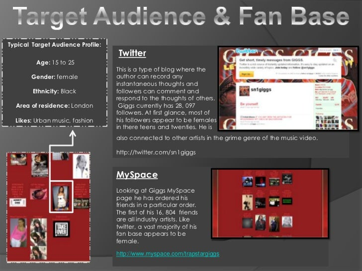 Target Audience & Fan Base<br />Typical  Target Audience Profile:<br /> Age: 15 to 25<br />Gender: female <br />Ethnicity:...