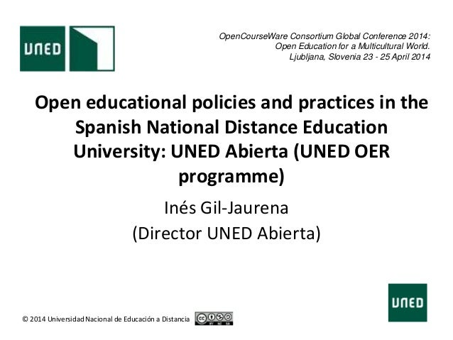 Open educational policies and practices in the Spanish National Distance Education University: UNED Abierta (UNED OER prog...