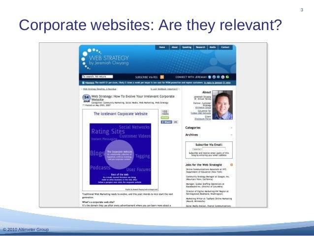 Making your Corporate Website Relevant Slide 3