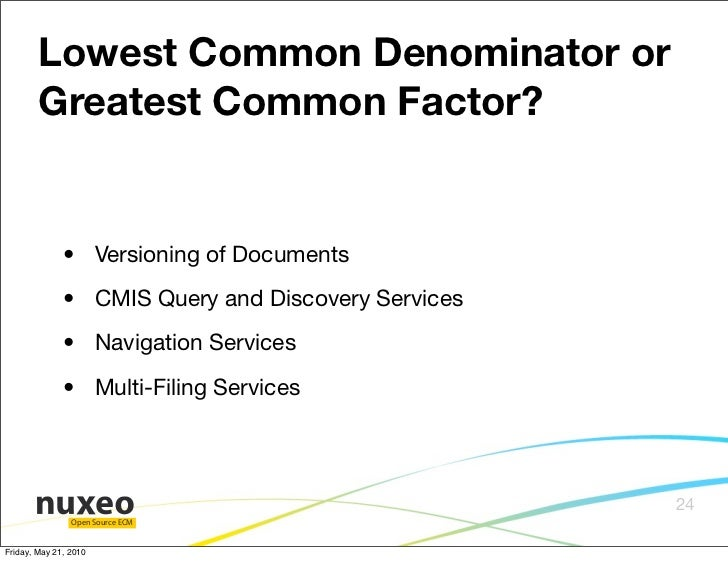 how to get lowest common denominator