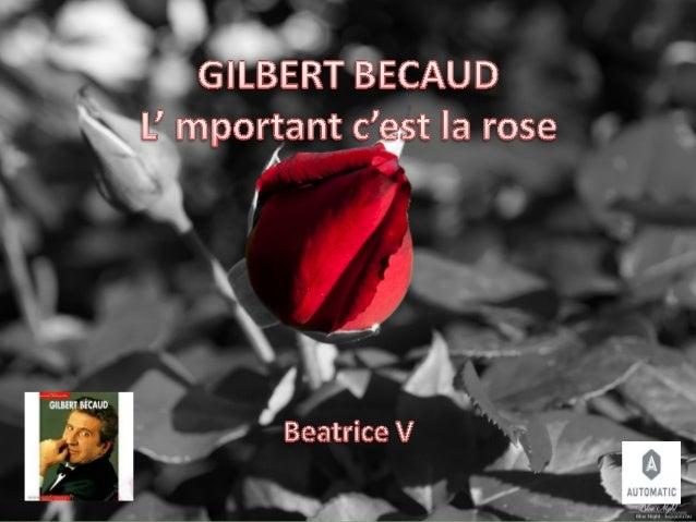 Gilbert becaud  l'important..