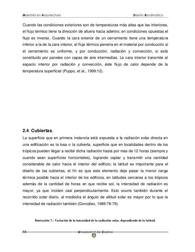 Dise o bioclimatico for Maestria en arquitectura de interiores