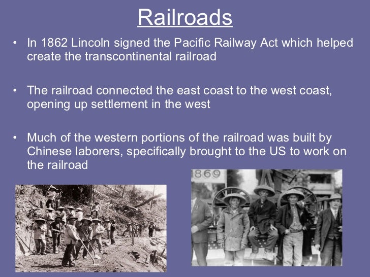 Pacific railway act 1862