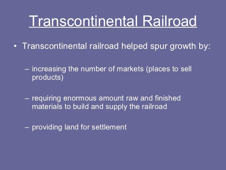 the american transcontinental railroad essay The transcontinental railroad - the american transcontinental railroad title length color rating : the significant impact of the transcontinental railroad on american society - the transcontinental railroad was one of the most ambitious engineering projects, economic stimulants, and efficient methods of.