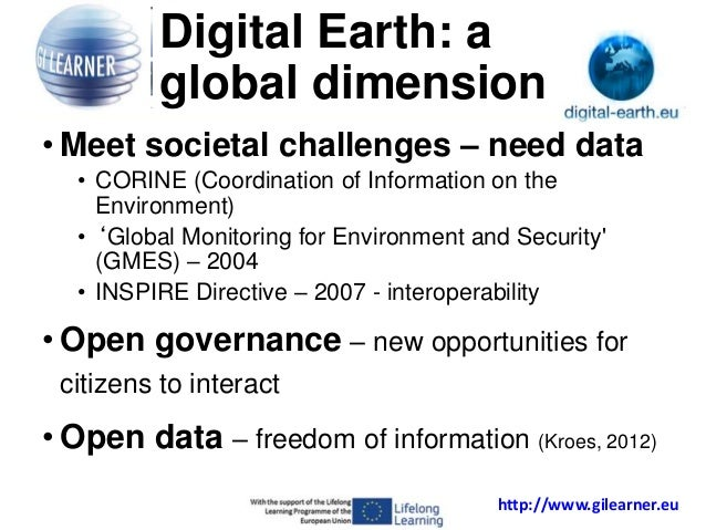 Digital Earth: GI-Learner: creating a learning line for GI Science in education  Slide 3