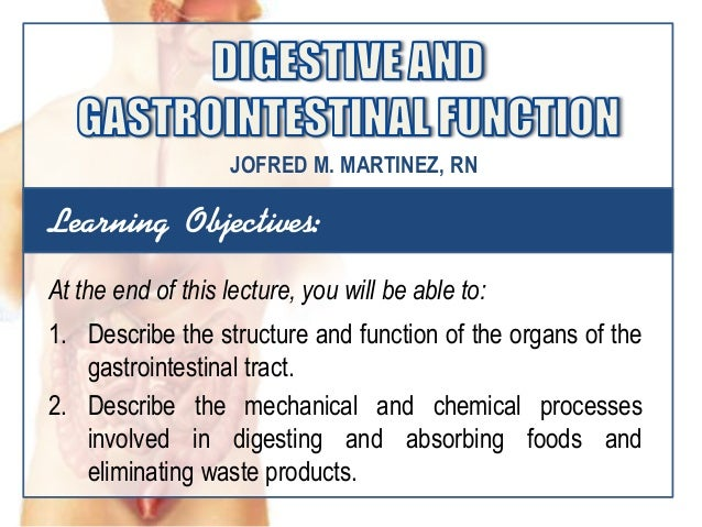 Learning Objectives:At the end of this lecture, you will be able to:1. Describe the structure and function of the organs o...