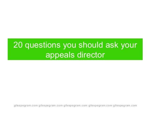 gilespegram.com gilespegram.com gilespegram.com gilespegram.com gilespegram.com 20 questions you should ask your appeals d...