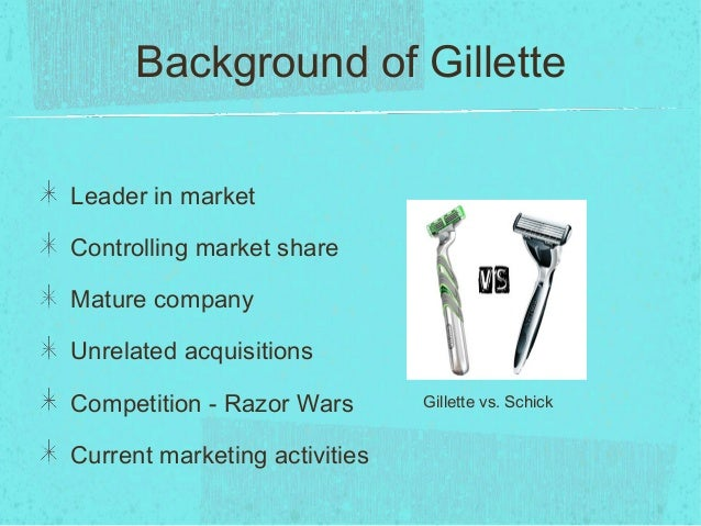 gillette case study conclusion gillette Case gillette in indonesia provides us with a lot of general and numerical data concerning the situation of the company and the country in 1995 in case text it is clearly stated that ~17% growth is anticipated and questioned whether by sophisticated marketing strategy 30% growth could be achieved next year.