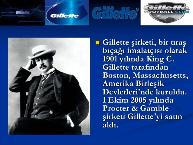 Gilette sunum Slide 3