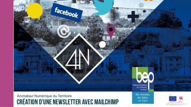 Animateur Numérique du Territoire Création d'une newsletter avec Mailchimp