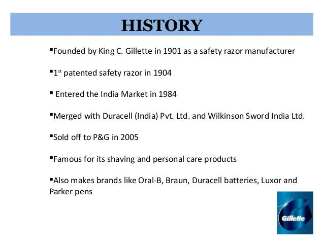 marketing and gillette Market analysis of gilette question  with the help of this case study we will analyse the challenges faced by gillette while marketing the razors to the .
