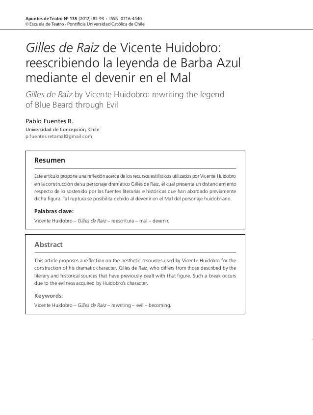 82Apuntes de Teatro Nº 135 (2012): 82-93 • ISSN 0716-4440© Escuela de Teatro - Pontificia Universidad Católica de ChileRes...