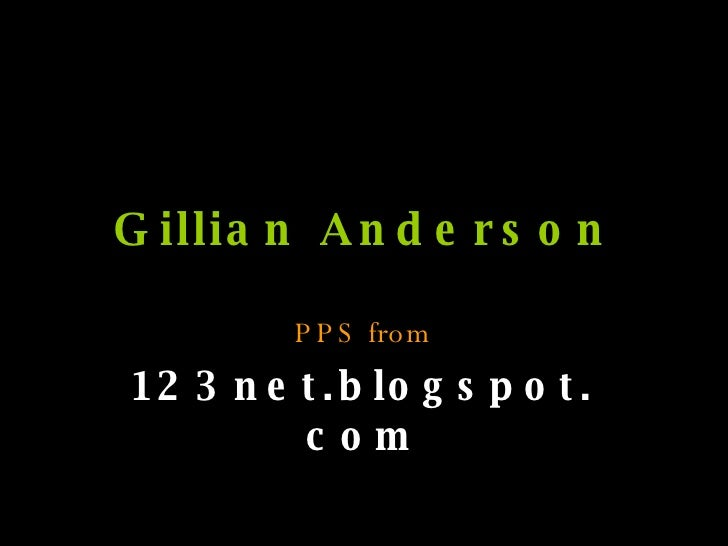 Gillian Anderson PPS from 123net.blogspot.com
