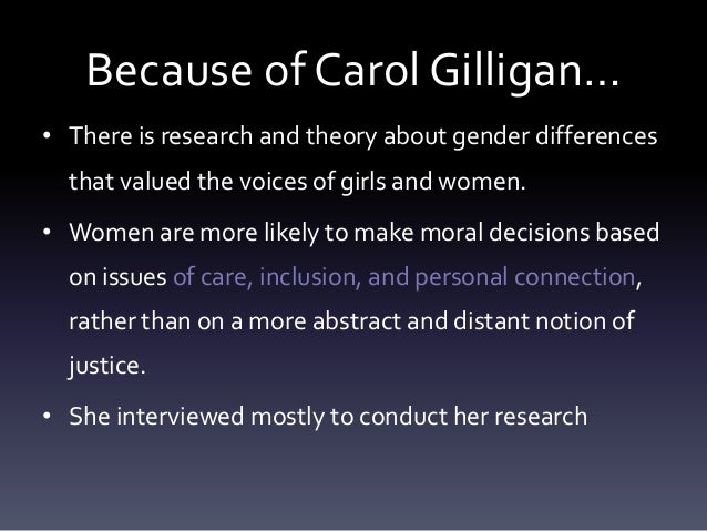 feminism and the ethics of care Continue reading carol gilligan  what works in the ethics of care do you see as the most important currently, the writings of michael slote,.