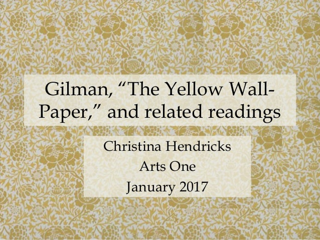 an analysis of confusion in the yellow wallpaper by charlotte perkins gilman 'the yellow wallpaper' - charlotte perkins gilman  'the yellow wall-paper' – charlotte perkins stetson  the yellow wallpaper by charlotte perkins gilman.