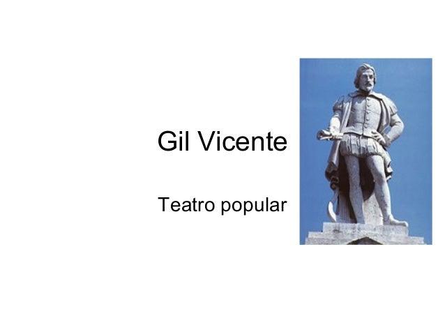 Gil Vicente Teatro popular