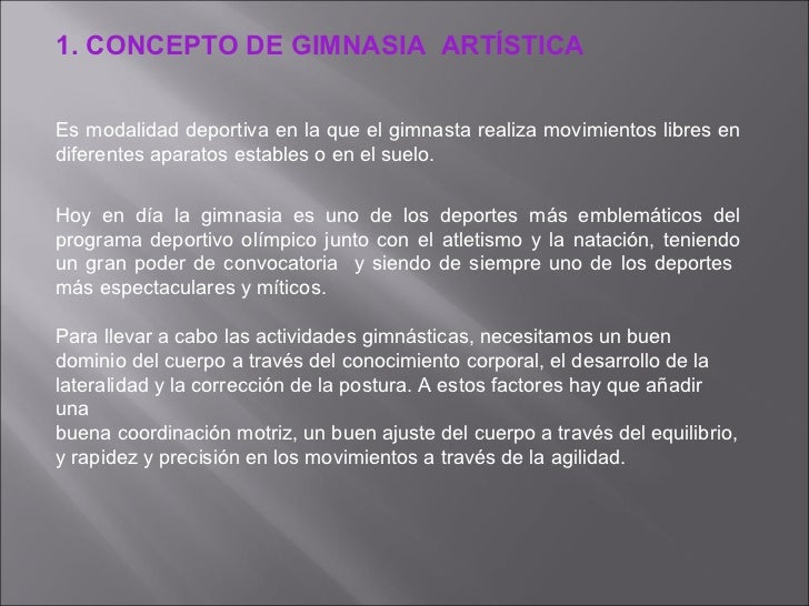 Gim art stica for Concepto de gimnasia
