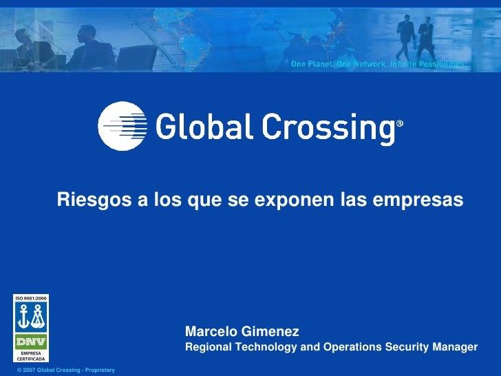 Riesgos a los que se exponen las empresas                                            Marcelo Gimenez                      ...