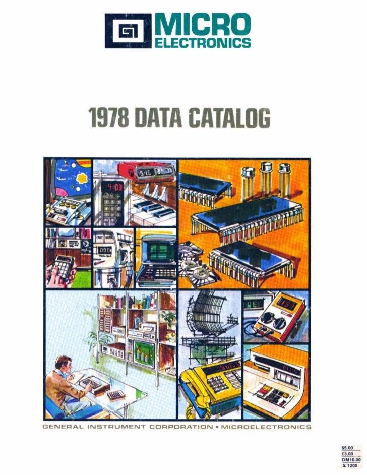 1918 DATA CATALOGGENERAL INSTRUMENT CORPORATION. MICROELeCTRONICS                                                   ..    ...
