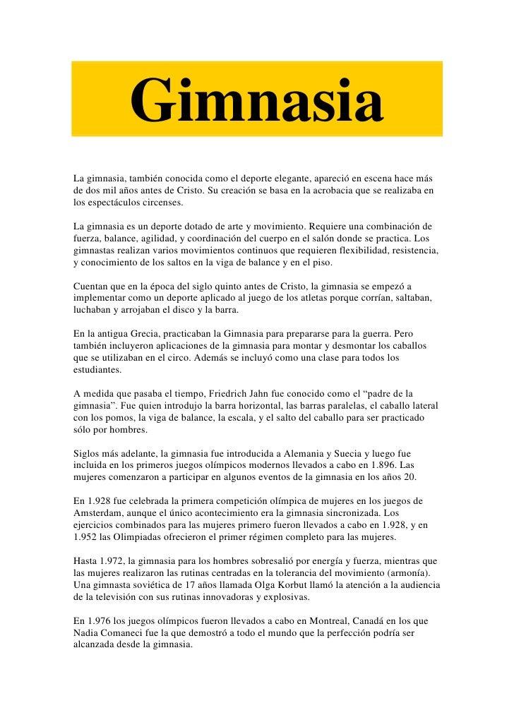 Gimnasia for Gimnasia informacion