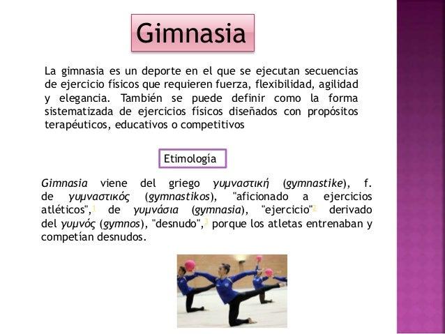 gimnasia y su clasificacion
