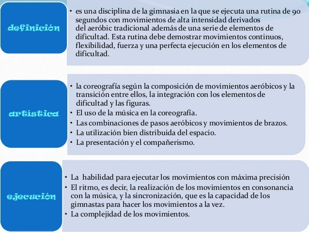 Gimnasia aer bica para educacion fisica for Definicion de gimnasia