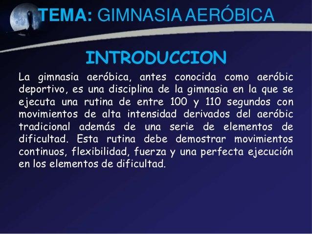 Gimnasia aerobica for Definicion de gimnasia