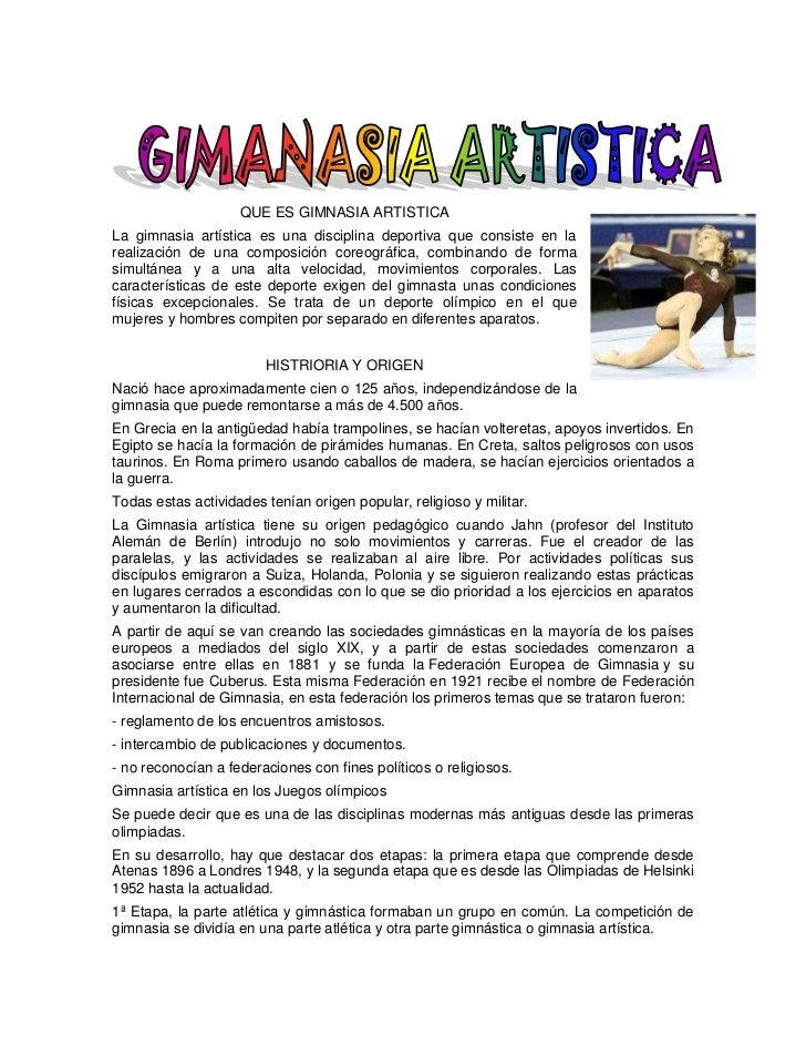 Gimnasia artistica for Definicion de gimnasia