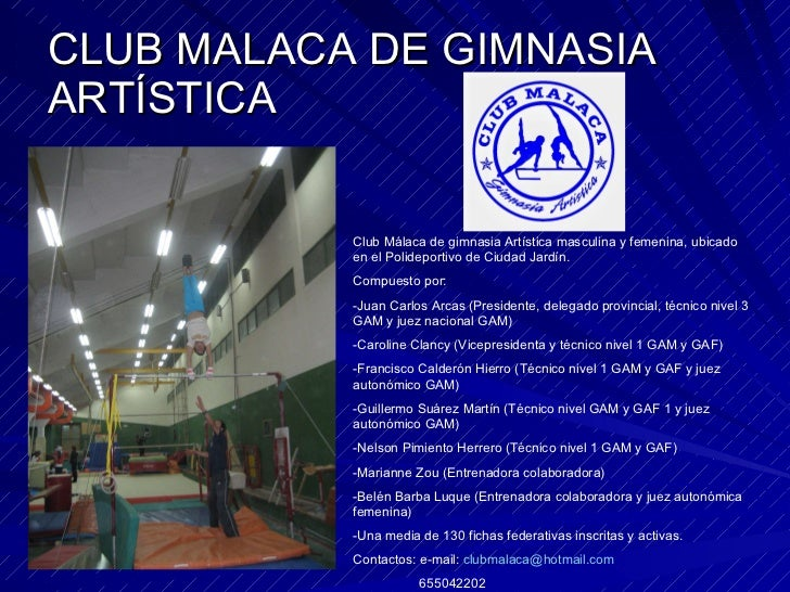 Gimnasia art stica masculina y femenina for Polideportivo ciudad jardin malaga