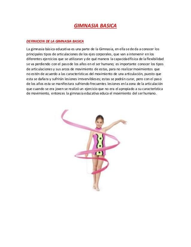 Gimnasia basica for Definicion de gimnasia