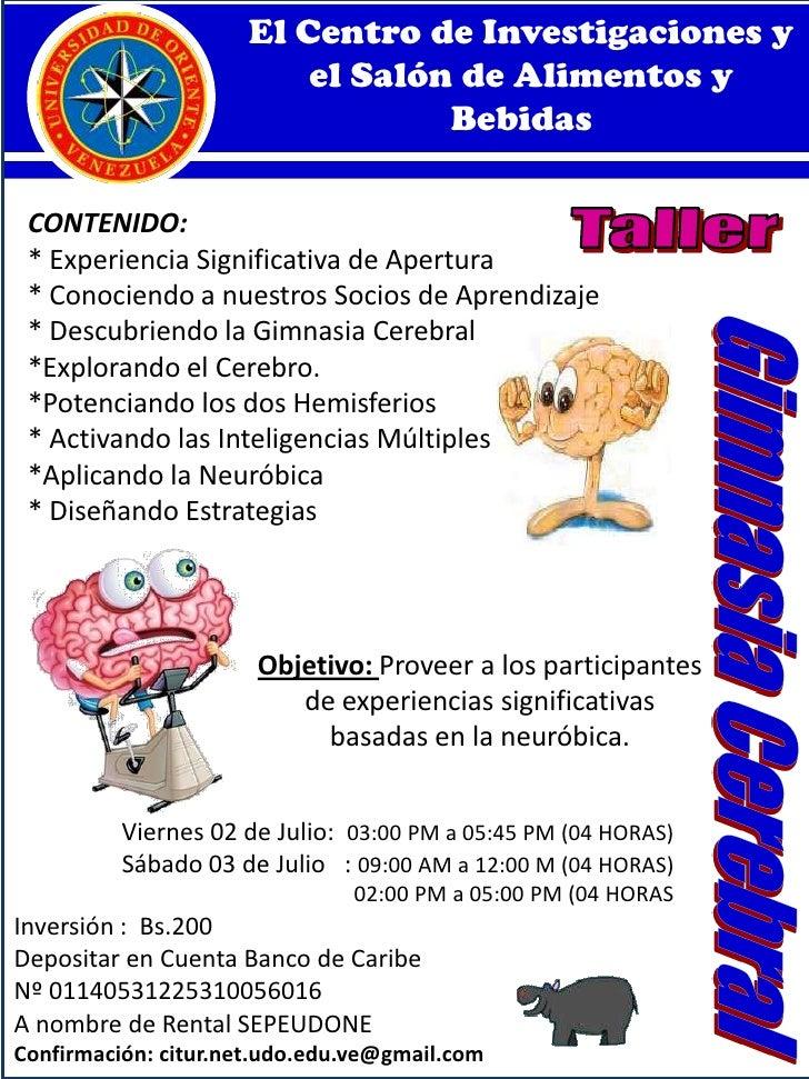 El Centro de Investigaciones y el Salón de Alimentos y Bebidas<br />CONTENIDO:<br />* Experiencia Significativa de Apertur...
