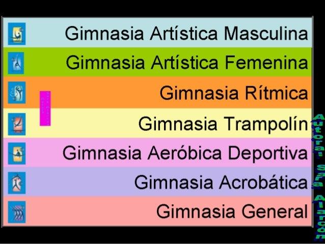 4x  9-2)-  Gimnasia Artística Masculina Gimnasia Artística Femenina  Gimnasia Rítmica            Gimnasia Trampolín    Gim...