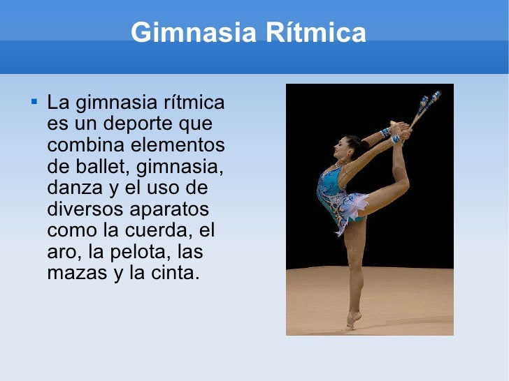Gimnasia ritmica for Definicion de gimnasia