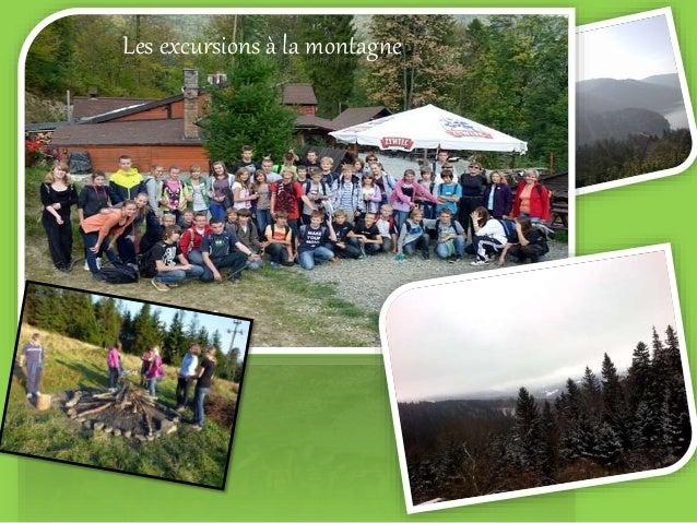 Les excursions à la montagne