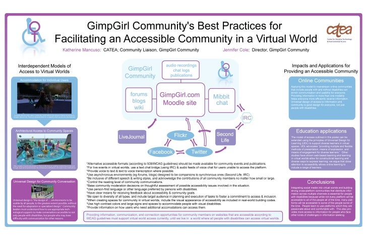 """GimpGirl Community IEEE-IBM 2009 """"GimpGirl Community's Best Practices for Accessible Communication Using a Virtual World"""" ..."""