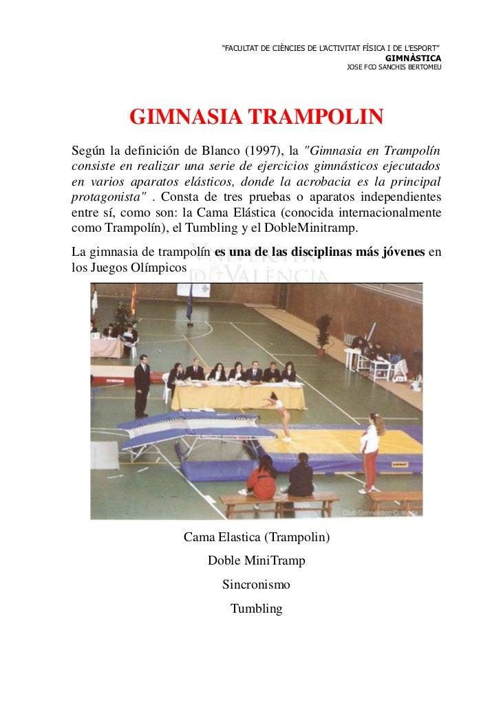 Gim trampolin for Gimnasia concepto