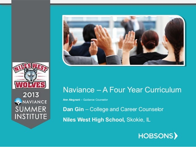 Naviance – A Four Year Curriculum Ann Alegnani – Guidance Counselor Dan Gin – College and Career Counselor Niles West High...