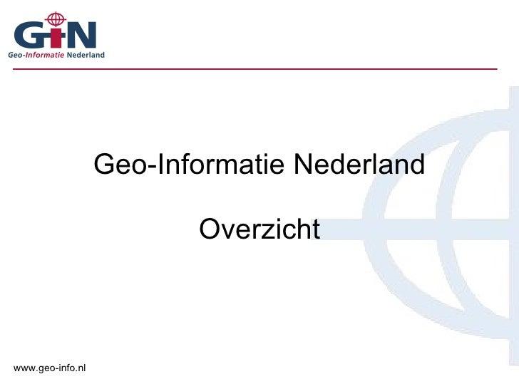 Geo-Informatie Nederland Overzicht
