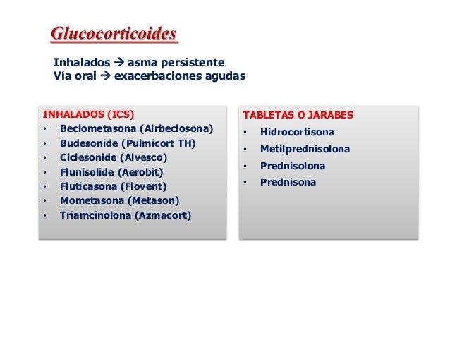 Dosis equivalentes estimadas de corticoesteroides inhalados para niños mayores de 5 años Medicamento Dosis baja diaria (μg...